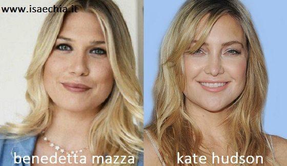 Somiglianza tra Benedetta Mazza e Kate Hudson