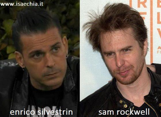 Somiglianza tra Enrico Silvestrin e Sam Rockwell
