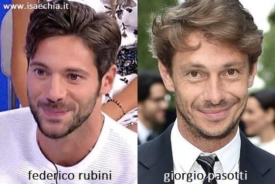 Somiglianza tra Federico Rubini e Giorgio Pasotti