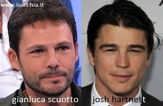 Somiglianza tra Gianluca Scuotto e Josh Hartnett
