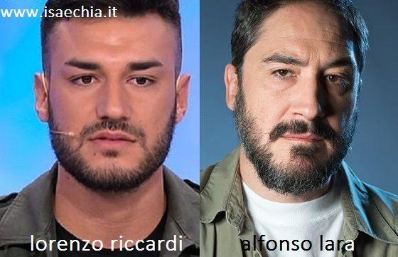 Somiglianza tra Lorenzo Riccardi e Alfonso Lara
