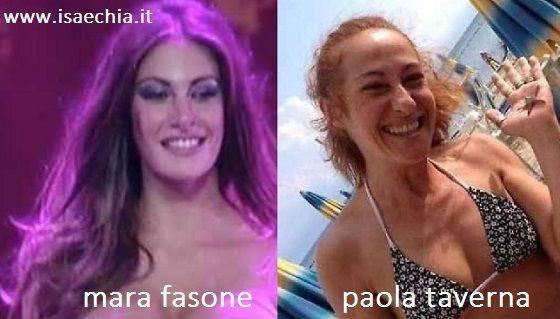 Somiglianza tra Mara Fasone e Paola Taverna