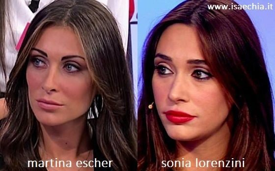 Somiglianza tra Martina Escher e Sonia Lorenzini