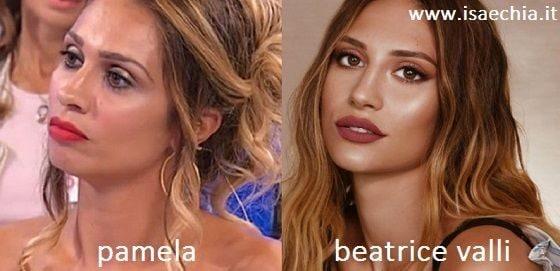 Somiglianza tra Pamela e Beatrice Valli
