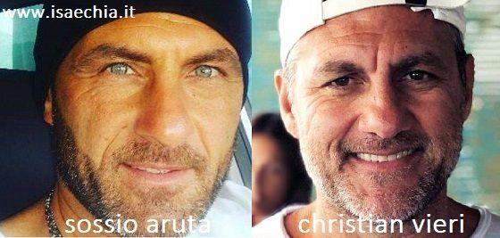 Somiglianza tra Sossio Aruta e Christian Vieri