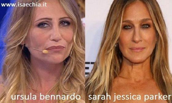 Somiglianza tra Ursula Bennardo e Sarah Jessica Parker