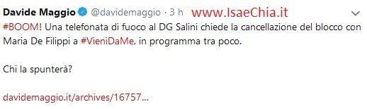 Twitter Davide Maggio