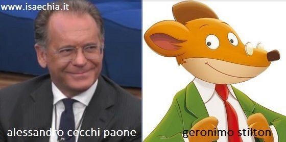Somiglianza tra Alessandro Cecchi Paone e Geronimo Stilton