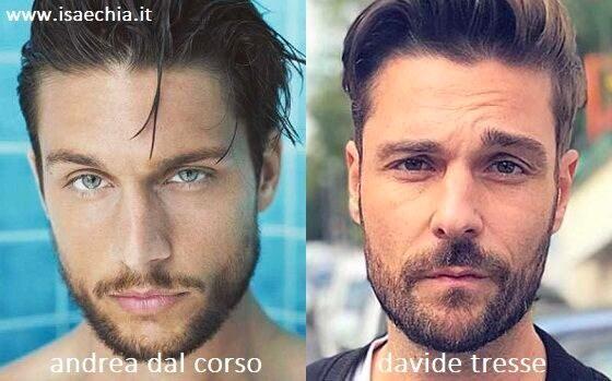 Somiglianza tra Andrea Dal Corso e Davide Tresse