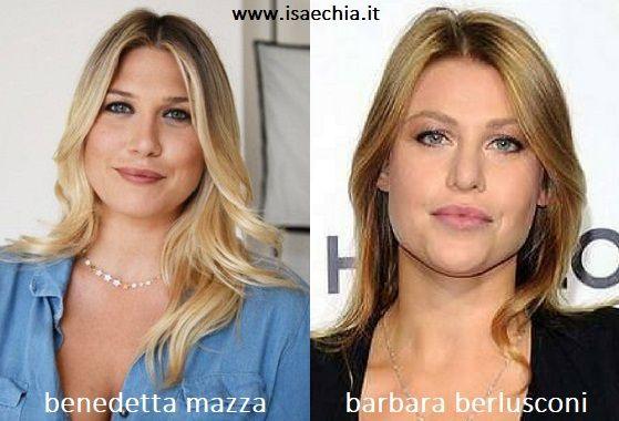 Somiglianza tra Benedetta Mazza e Barbara Berlusconi