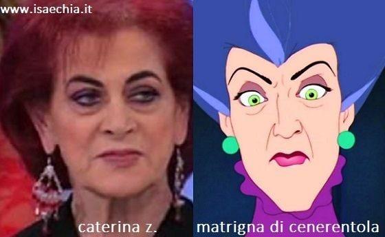 Somiglianza tra Caterina Z. e la matrigna di Cenerentola
