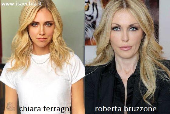 Somiglianza tra Chiara Ferragni e Roberta Bruzzone