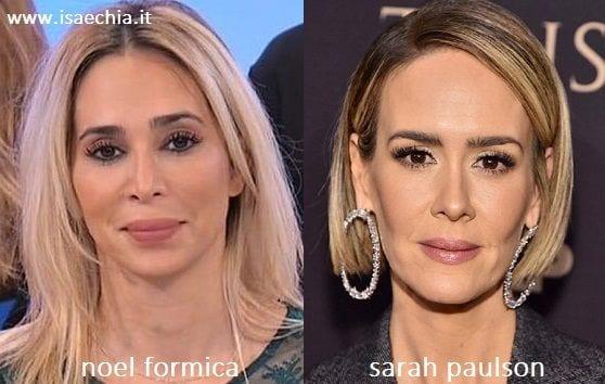 Somiglianza tra Noel Formica e Sarah Paulson