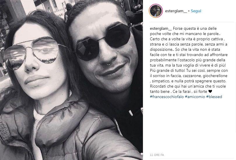 Francesco Chiofalo è malato, la rivelazione su Instagram: