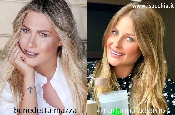 Somiglianza tra Benedetta Mazza e Marianna Acierno
