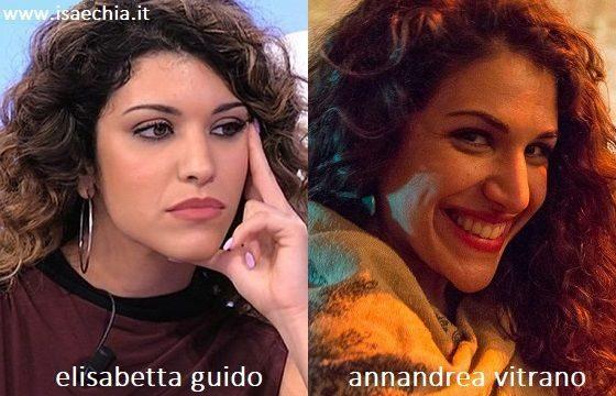 Somiglianza tra Elisabetta Guido e Annandrea Vitrano