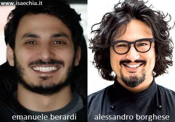 Somiglianza tra Emanuele Berardi e Alessandro Borghese