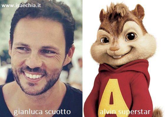 Somiglianza tra Gianluca Scuotto e Alvin Superstar