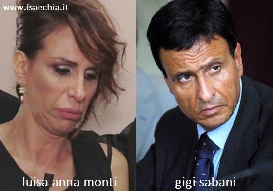 Somiglianza tra Luisa Anna Monti e Gigi Sabani