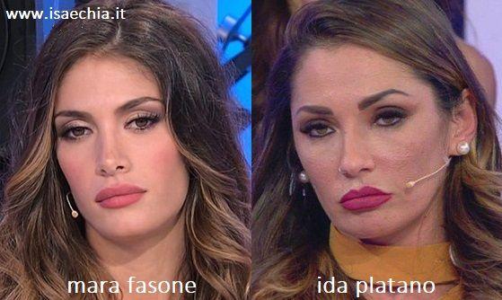 Somiglianza tra Mara Fasone e Ida Platano