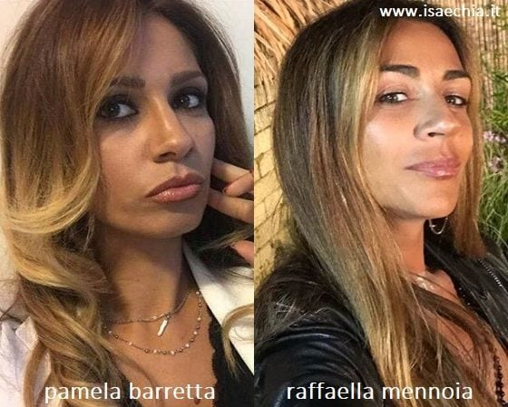 Somiglianza tra Pamela Barretta e Raffaella Mennoia
