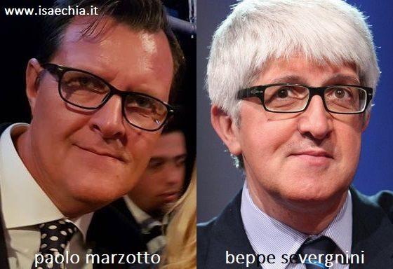 Somiglianza tra Paolo Marzotto e Beppe Severgnini