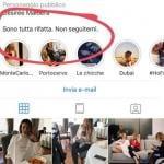 Instagram Story Giada Pezzaioli