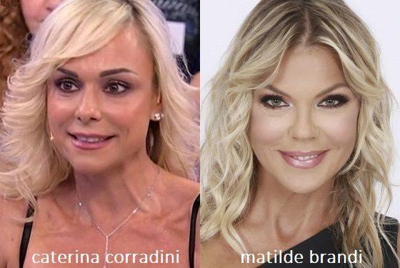 Somiglianza tra Caterina Corradini e Matilde Brandi