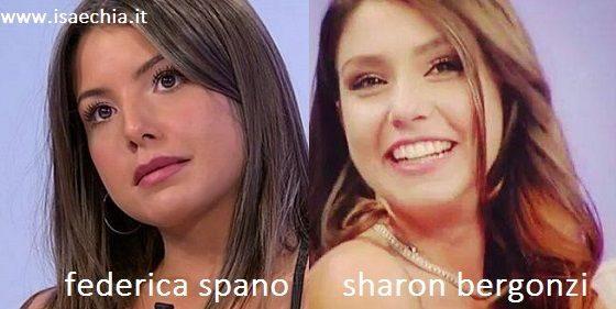 Somiglianza tra Federica Spano e Sharon Bergonzi