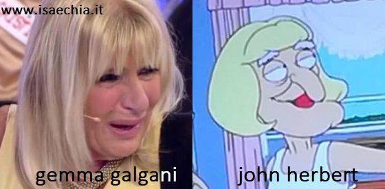 Somiglianza tra Gemma Galgani e John Herbert