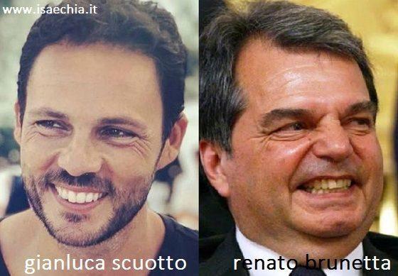 Somiglianza tra Gianluca Scuotto e Renato Brunetta