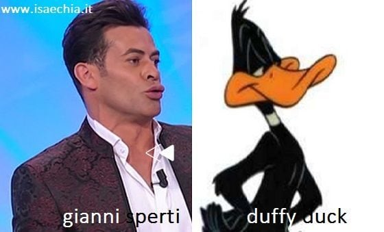 Somiglianza tra Gianni Sperti e Duffy Duck