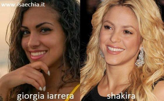 Somiglianza tra Giorgia Iarrera e Shakira
