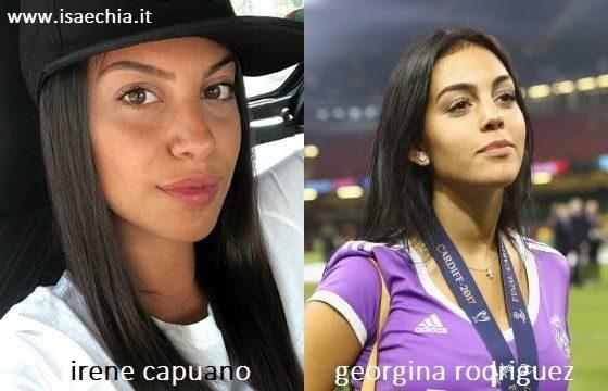 Somiglianza tra Irene Capuano e Georgina Rodriguez