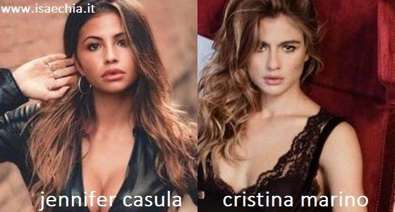Somiglianza tra Jennifer Casula e Cristina Marino