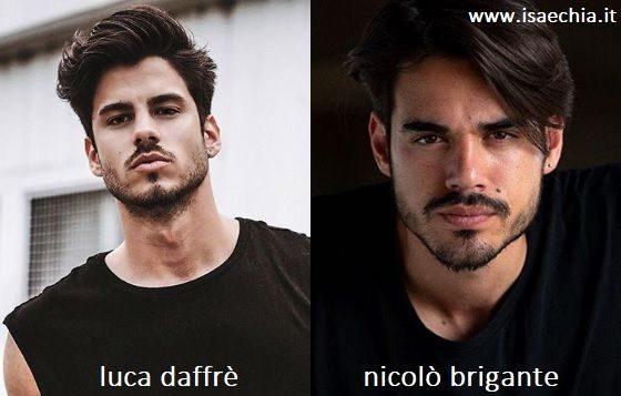 Somiglianza tra Luca Daffré e Nicolò Brigante