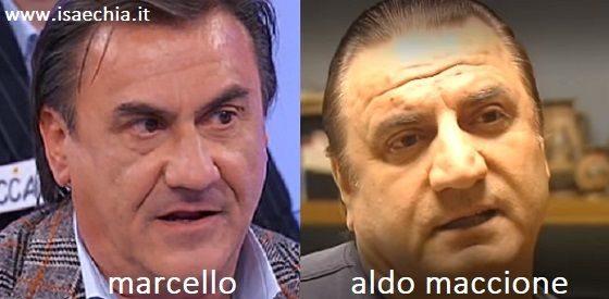 Somiglianza tra Marcello e Aldo Maccione