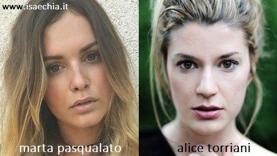 Somiglianza tra Marta Pasqualato e Alice Torriani