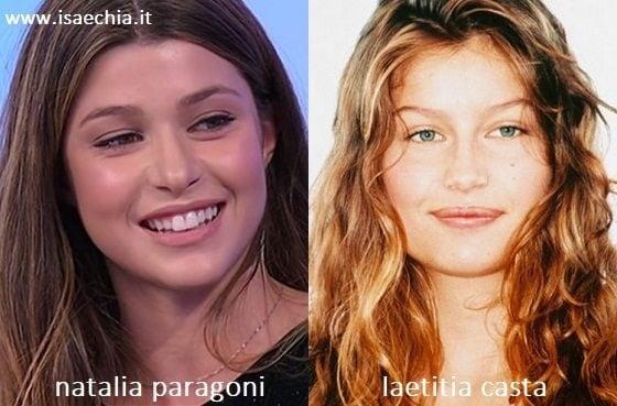 Somiglianza tra Natalia Paragoni e Laetitia Casta