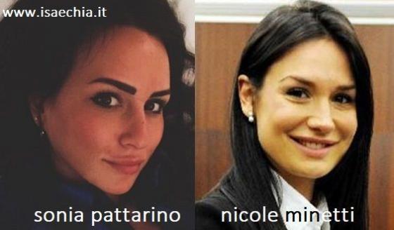 Somiglianza tra Sonia Pattarino e Nicole Minetti
