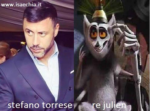 Somiglianza tra Stefano Torrese e Re Julien