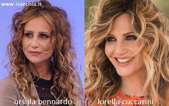 Somiglianza tra Ursula Bennardo e Lorella Cuccarini