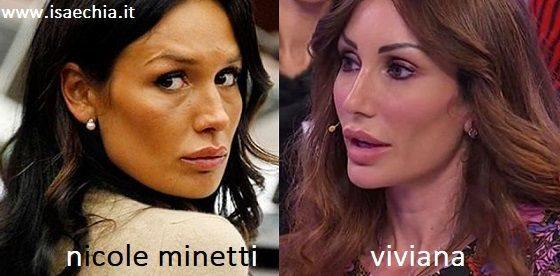Somiglianza tra Viviana e Nicole Minetti