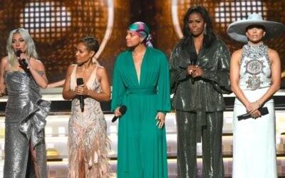 Lady Gaga, Jada Pinket Smith, Alicia Keys, Michelle Obama e Jennifer Lopez