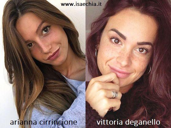 Somiglianza tra Arianna Cirrincione e Vittoria Deganello