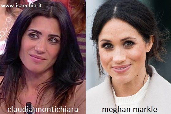 Somiglianza tra Claudia Montichiara e Meghan Markle