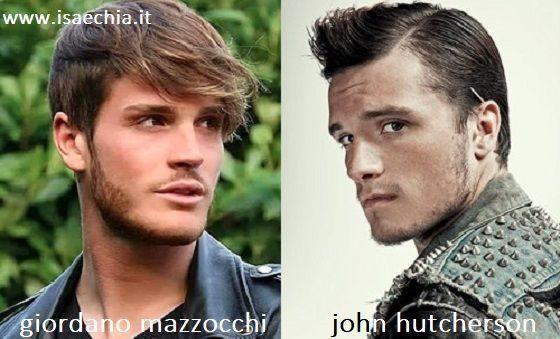 Somiglianza tra Giordano Mazzocchi e John Hutcherson