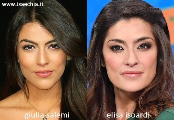 Somiglianza tra Giulia Salemi e Elisa Isoardi