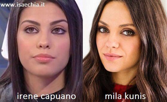 Somiglianza tra Irene Capuano e Mila Kunis