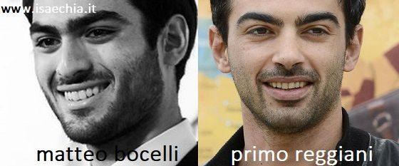 Somiglianza tra Matteo Bocelli e Primo Reggiani